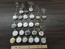 modern pocket watches as is big misc lot of vintage and
