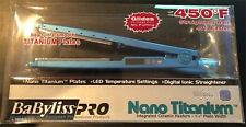 "BaByliss Pro Nano Titanium Plated 1.25"" Hair Flat Iron 1 1/4 BABNT2091- Priority"