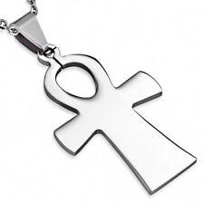 Zense - Pendentif acier pour homme et croix ansŽe ZP0174