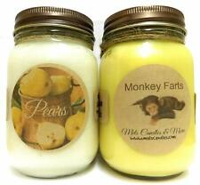 Monkey Farts and Pears - Set of Two 16oz All Natural Soy Candles