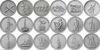 ✔ Russia 5 rubles 2014 UNC Set 18 Pcs 70th Anniversary of the Victory in WOW II