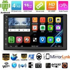 Double 2Din 7'' Quad Core Android 7.1 GPS Navi Car Stereo MP5 Player FM AM Radio