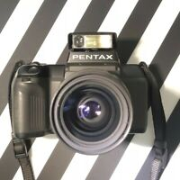 PENTAX SF 7 35mm Film Camera + 28-80mm Macro Pentax-F Zoom Lens & Manual Lomo! #