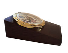 American Eagle Wood Desk Clock by US News Collectible Quartz Battery Operated