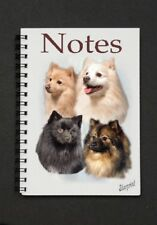 German Spitz Dog Notebook/Notepad with small image on every page by Starprint