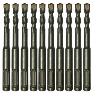 "10PC 1/4"" x 4"" SDS Plus Rotary Hammer Drill Bits Concrete Masonry Carbide Tip"