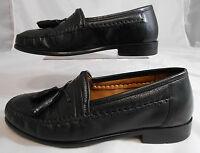 Brass Boot WALKING GLOVES Mens Leather Slip On Tassel Loafers Size 8.5 M Black