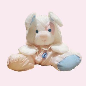 Vintage HTF Puffalumps Fisher Price Plush Pink And White With Rattle 1988 Quaker