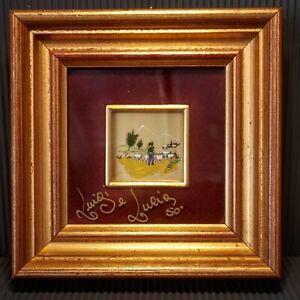Mirko-Mirko's Gold International -Hand Painted - Gold 24kt Italy - Framed
