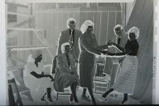 (1) B&W Press Photo Negative Vintage Women Dancing Men Watching T624