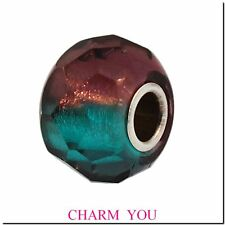 AUTHENTIC  TROLLBEADS 60184 Turquoise Prism Bead