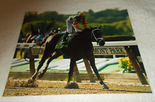 MIKE SMITH PALACE MALICE SIGNED 2013 BELMONT STAKES 8x10 HORSE RACING PHOTO