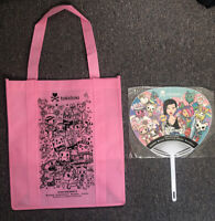Tokidoki Pink Shopping Tote Bag & Fan NYCC SDCC 2019 Comic Con Exclusive