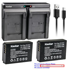 Kastar Battery Dual USB Charger for Canon LP-E12 LC-E12 & Canon EOS M50 Camera