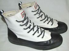 Hunter Target Coated Canvas Lace Up Cap Toe Rain Shoes Womens Size 8.5 Mens 6.5