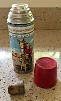 Vintage 50's Roy Rogers Dale Evans DoubleR Bar Ranch Thermos w/stopper & cup