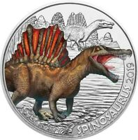 3 Euros Commémorative Autriche Coloful Creatures 2019 - Spinosaurus