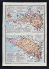 1885 Drioux Map - Seine River Basin & Loire Basin - Paris Tours St. Denis France