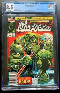 THE TOXIC AVENGER #1 April 1991 CGC 8.5 White Pages Peter Dinklage