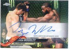 2018 Topps UFC Chrome TYRON WOODLEY Refractor Auto Autograph CArd