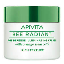 Apivita Bee Radiant Natural Age Defense Face Cream Orange Rich Texture 50ml