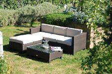 Set loung per esterno completo di colore CAFFE divano,pouf,tavolino