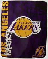 "Blanket Fleece Throw NBA Los Angeles Lakers NEW 50""x60"" with protective sleeve"