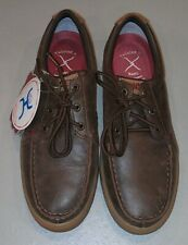 NEW Twisted X Antibacterial Mens Hooey Smooth Leather Casual Shoes Brown 8 M