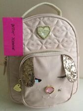 BETSEY JOHNSON Bunny Rabbit Kitsch Backpack Blush Pink w/ Quilted Lips BR23915