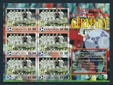 [105235] Grenada 2006 World cup football Germany team Poland Sheet MNH