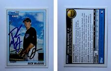 Deck McGuire Signed 2010 Bowman Draft Prospects #BDPP86 Card Blue Jays Autograph