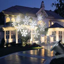Outdoor Snowflake Projector Moving Lamp Spike Light Landscape Garden Xmas Light