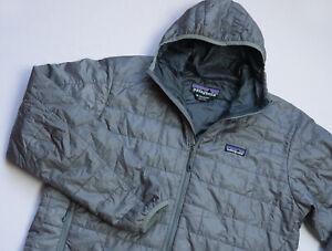 Patagonia Nano Puff Primaloft jacket men top size M Medium silver grey 84220FA12