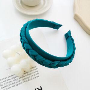 New Women Velvet Braided Headband Fabric Twist Braid Hair Band Hoop Accessories