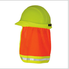 Safety Hard Hat Reflective Stripe Neck Shield Cap Sun Shade Protective Helmets
