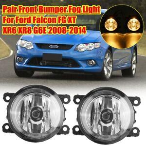 LHS + RHS Front Fog Light Lamp Clear For Ford Falcon FG XT XR6 XR8 G6E 08-14 AU