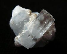 Gw- BEAUTIFUL Beryl var. GOSHENITE & AQUAMARINE - Baha, PAKISTAN