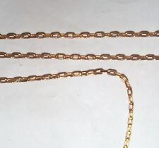 VINTAGE SOLID BRASS SOLDERED LINK HIGH QUALITY DRAWN CHAIN 8 FEET