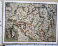 "Old Tudor map of Ulster, Ireland: Speed 1600's 15"" x 11 (Reprint)"