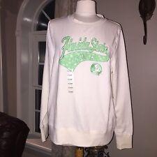 NEW > FSU Women's XL•Florida State Seminoles Sweatshirt•Ivory & Green NEW W/Tags