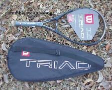 New Wilson Triad 2 T2 racket + case 117 T 2 racquet strung 1/2 unstrung 3/8