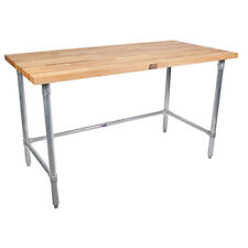 """Maple Top Work Table, 72"""" Wide, Without Undershelf"""