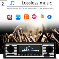 Bluetooth Vintage Car Radio MP3 Player Stereo USB AUX Classic tereo Audio New