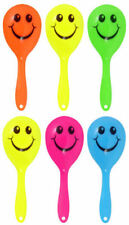 6 Smiley Face Maracas - Pinata Loot/Party Bag Fillers Toy Wedding Happy