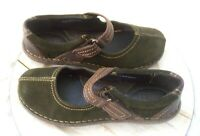 Born Womens Suede Mary Jane Shoes Leather Strap Sz 8.5 Euro 40 Walking Comfort