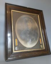 WW1 British Army Framed Portrait Photograph + Medals H. Long Devonshire Regiment