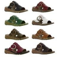 Fly London Tute Womens Leather Wedge Heel Sandals Size UK 4-8