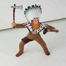 "Papo Wild West Western Indian Native American Vintage 1999 Figure 3.5"" Chief HTF"