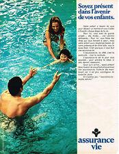 PUBLICITE  1968   ASSURANCE VIE   l'avenir de vos enfants
