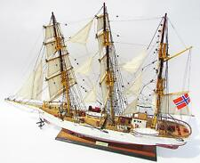 "SORLANDET Tall Ship Assembled 37"" Handmade Built Wooden Model Ship New"